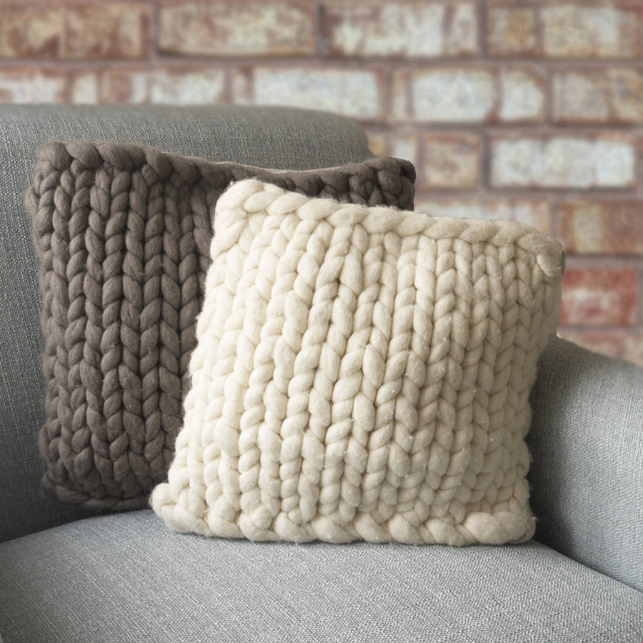 knitted cushions barnstaple chunky knitted panel cushion hrmwctg