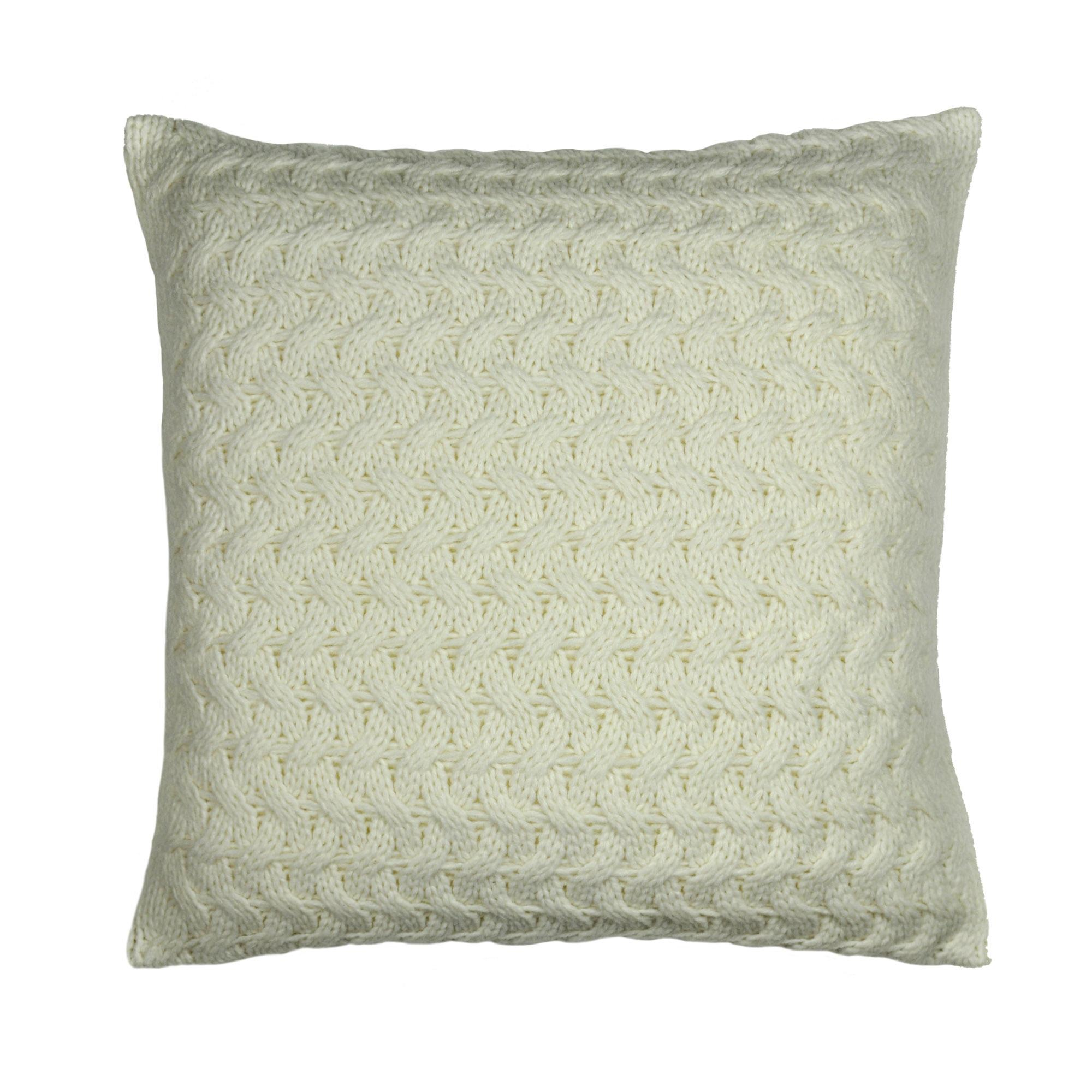 knitted cushions chunky knit ivory cushion jwdrslp