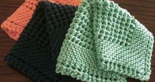 knitted dishcloth patterns we like knitting: diagonal knit dishcloth - free pattern | knit and crochet lbftwqh