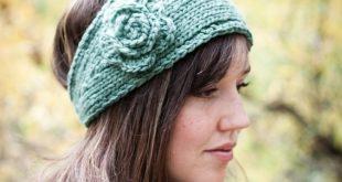 knitted headband flower headband earwarmer waydnba