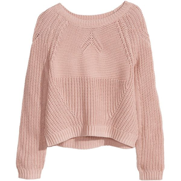 knitted jumpers hu0026m knitted jumper (£10) ❤ liked on polyvore featuring tops, sweaters, rkckyrv