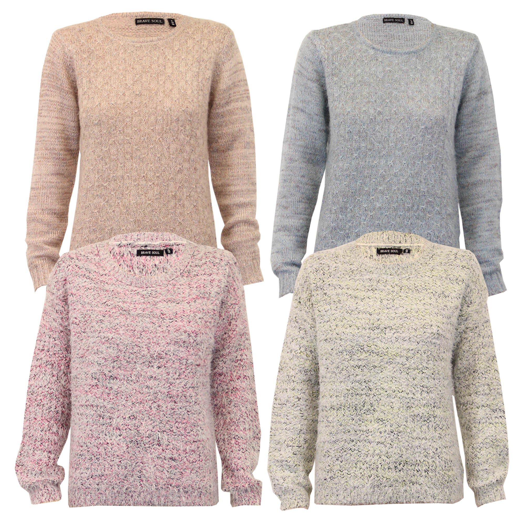 knitted jumpers ladies-mohair-jumper-brave-soul-womens-knitted-sweater- wxwnbck