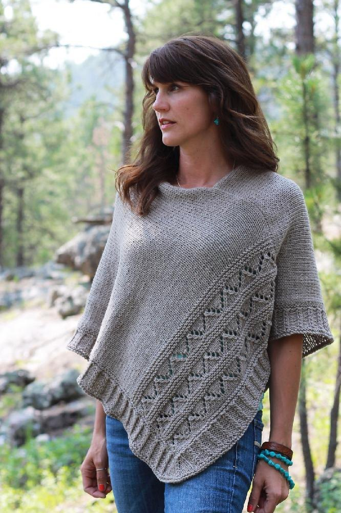 knitted poncho high plains knitting pattern by melissa schaschwary | knitting patterns |  loveknitting qtmvrmg