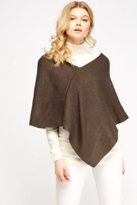 knitted poncho idsqadn