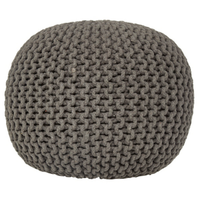 knitted pouf charcoal knitted pouffe kbimacz