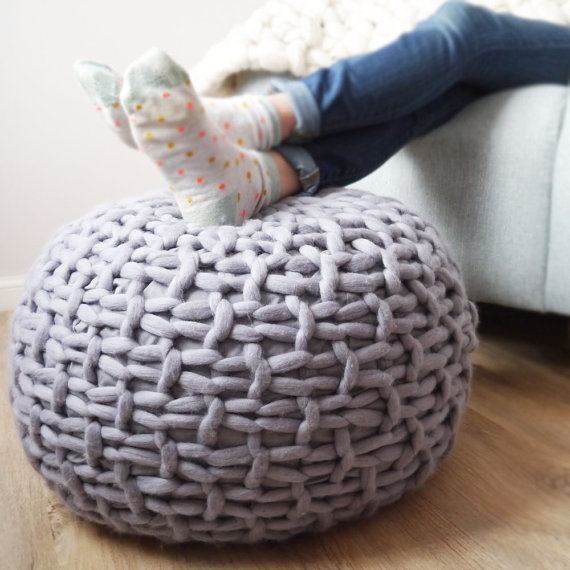 knitted pouf like this item? lumqkbo