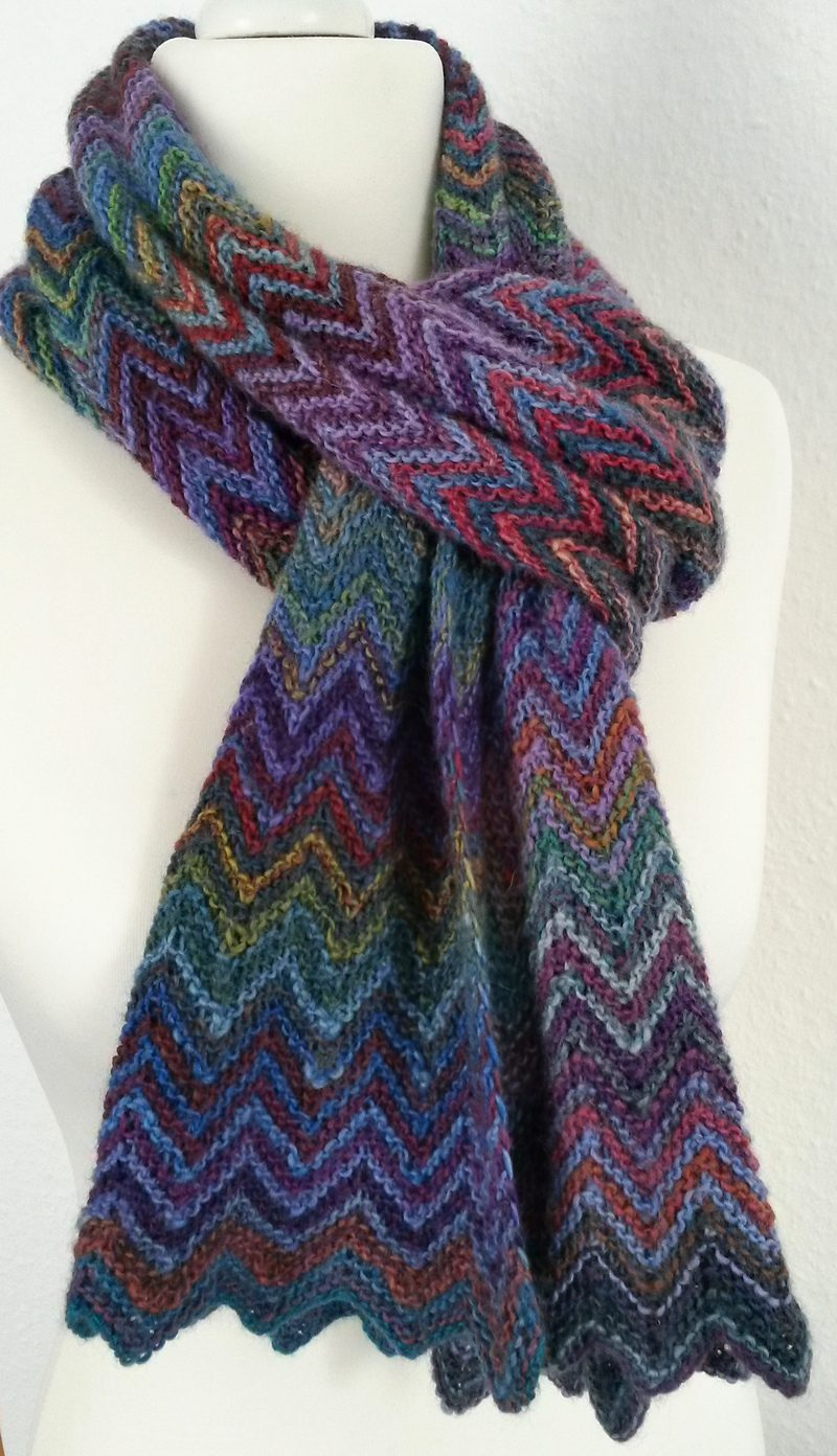 knitted scarves free knitting pattern zick zack scarf