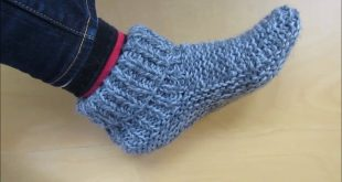 knitted slippers knitting adult size slippers (with a french accent!) - beginners - youtube eductem
