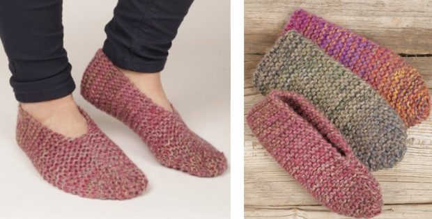 knitted slippers side step knitted garter slippers [free knitting pattern] dbntxog
