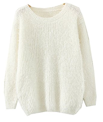 knitted sweaters musf women fluffy mohair sweaters knitted sweater (beige) jsohyuy