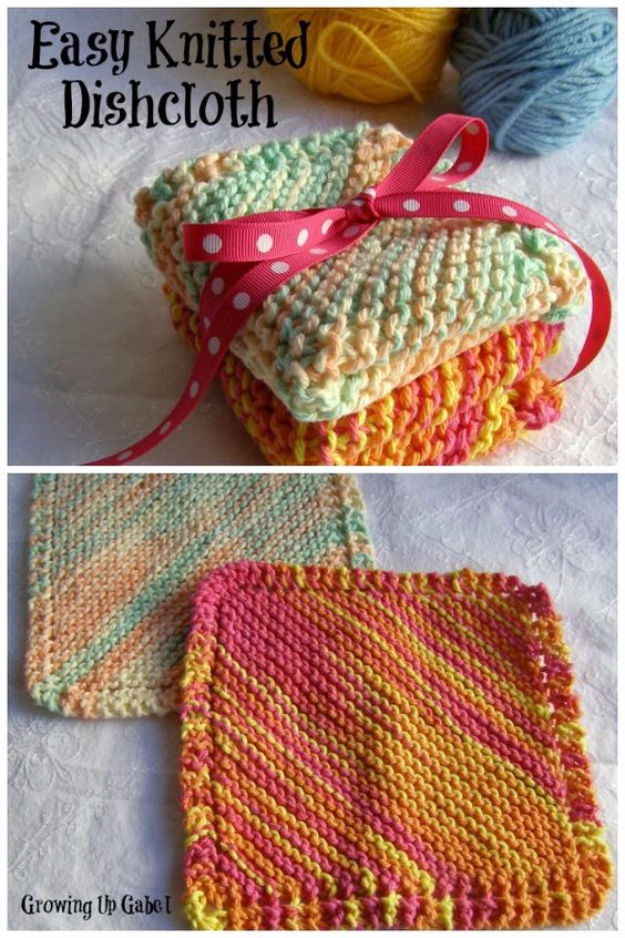 Knitting Gifts 32 easy knitted gifts - easy knit dishcloth - last minute knitted gifts, wraknqp