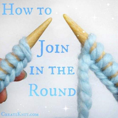 Knitting in the round introduction: learn how to join in the round with circular knitting! rktziwm
