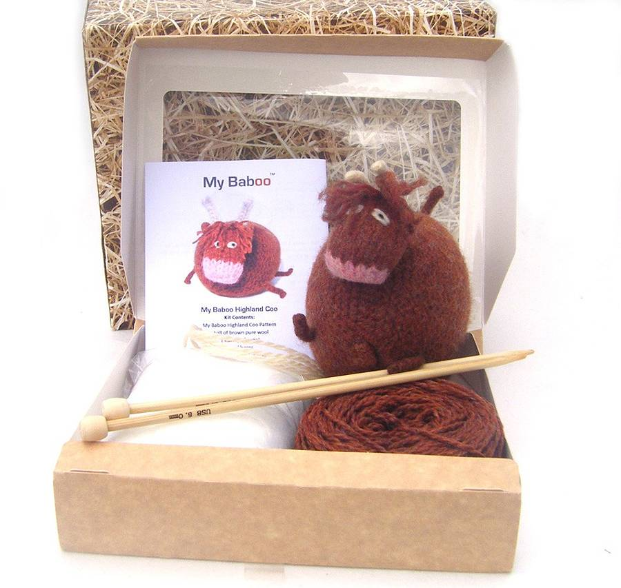 Knitting kits highland cow knitting kit dkpdgys