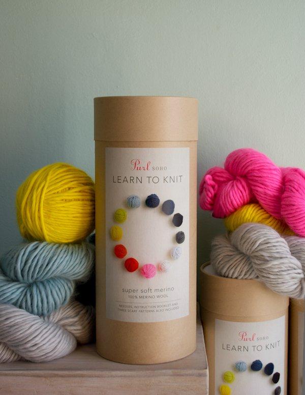 Knitting kits purl sohou0027s learn to knit kit! | purl soho goxhsdq