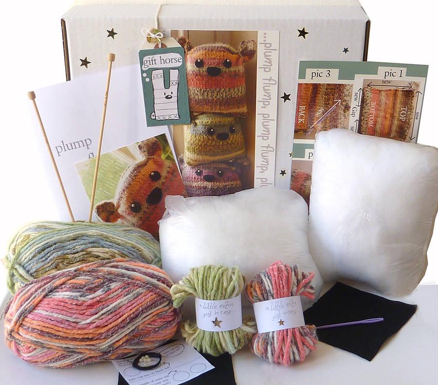 Knitting kits two plump flumps knitting kit- gift horse kits dmjtpvx