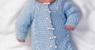 knitting patterns for babies all-in-one in king cole aran (3504)-deramores etpcvhl