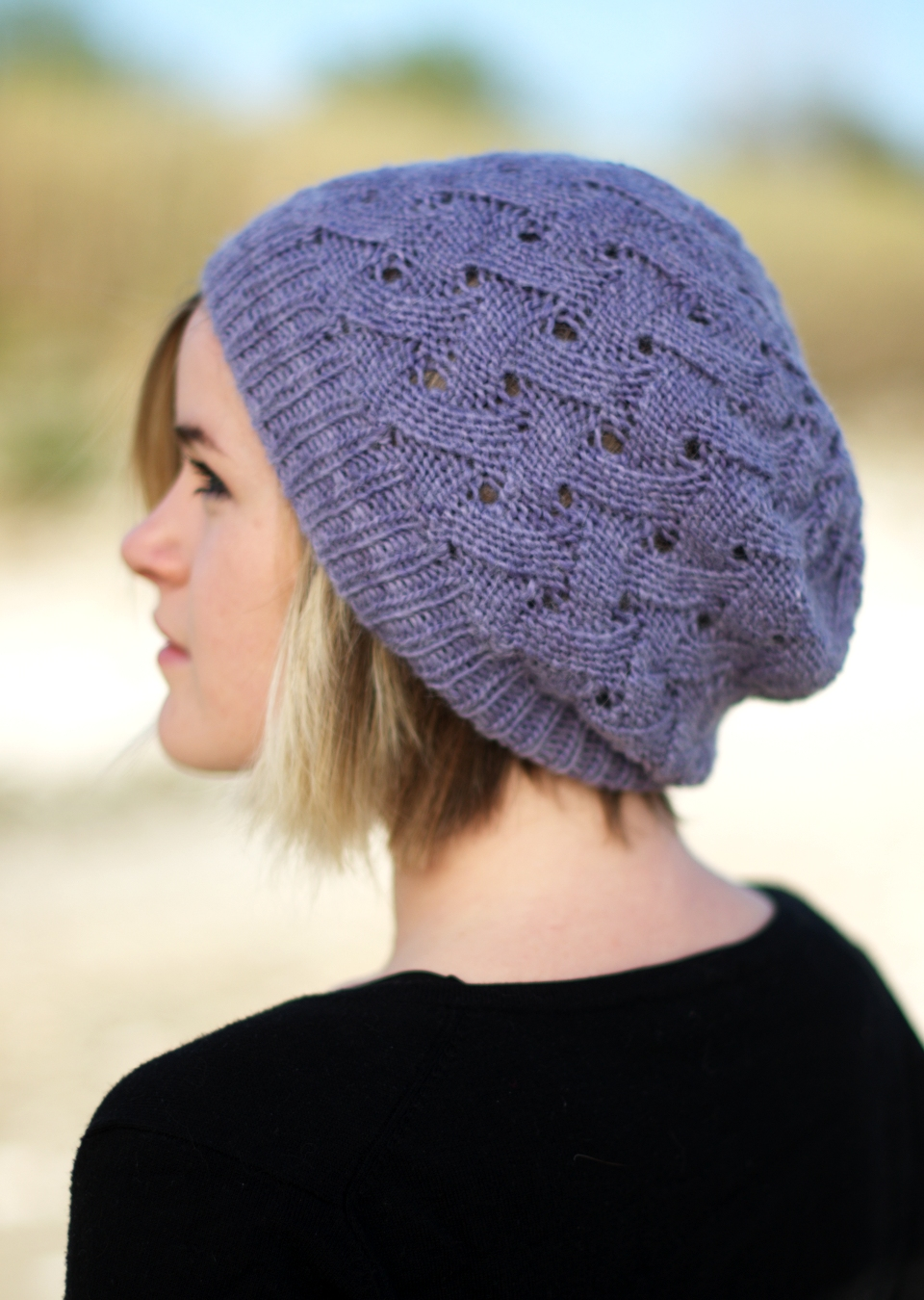 knitting patterns for hats ql slouch reversible slouchy lace hat knitting pattern uktitps