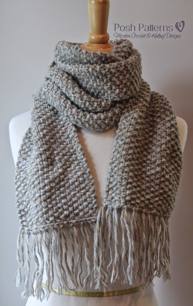 knitting patterns for scarves neutral knit scarf patterns. elegant seed stitch scarf kydhsal
