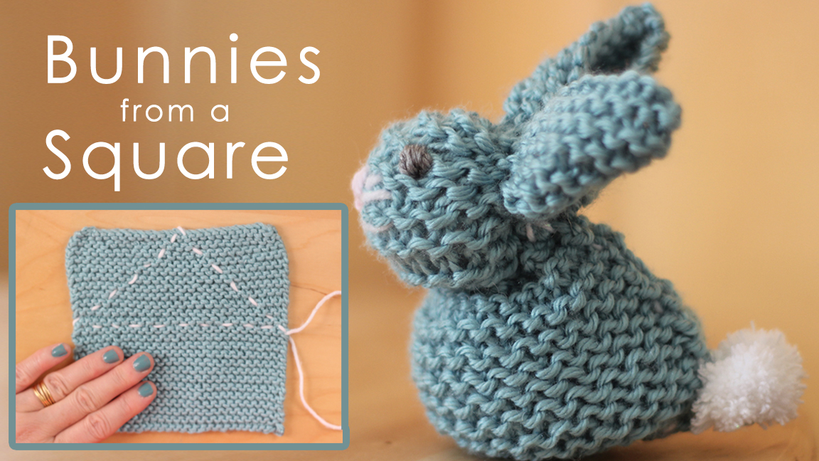 knitting projects how to knit a bunny from a square for easter luxdmjb