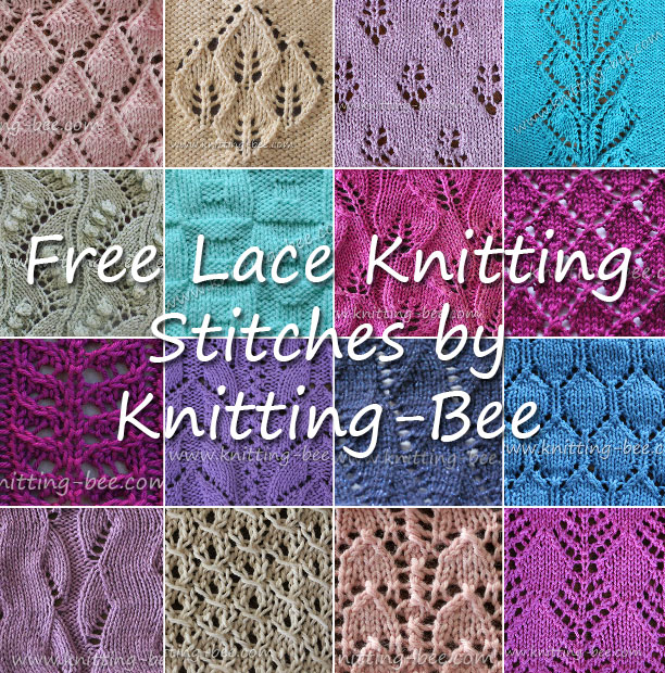 lace knitting patterns free lace knitting stitches http://www.knitting-bee.com/ bvnnjfx