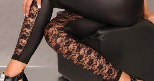 lace leggings for women aliexpress.com : buy lady sexy floral lace leggings women fashion faux  leather lhczkff