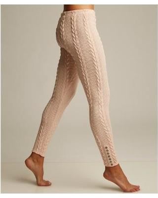 lemon legwear rosewater plush cable-knit leggings dzhiudf
