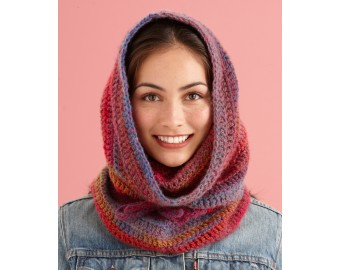 Lion Brand Yarn Patterns cozy cowl hood pattern (crochet) rcxhdwk