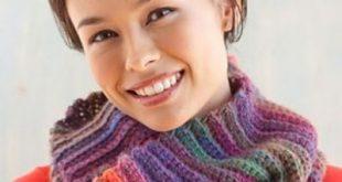 Lion Brand Yarn Patterns ravelry: tropic sunset cowl pattern by lion brand yarn ~ free pattern vfvzzva