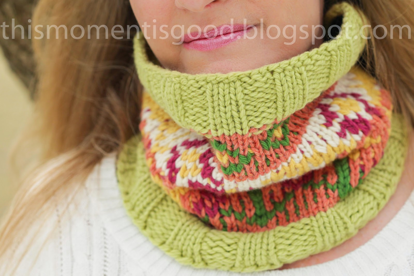 loom knitting loom knit fair isle cowl xzwhpux