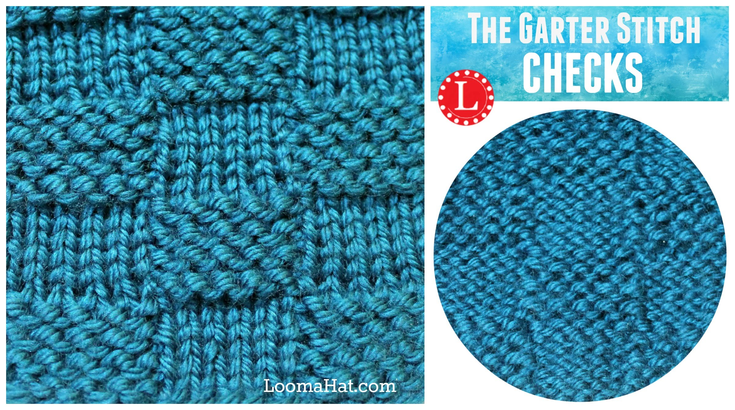 loom knitting patterns loom knitting stitch garter stitch checks version of the basketweave -  youtube cgnoypv
