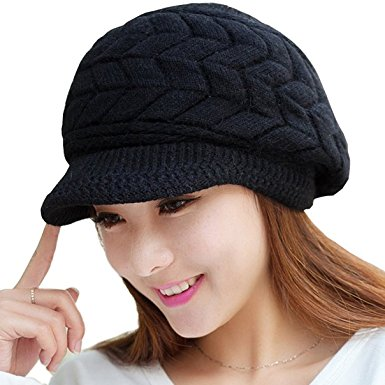 loritta womens winter warm knitted hats slouchy wool beanie hat cap with isvvzqn