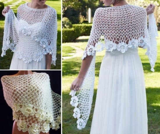 make yourself a gorgeous crochet shawl that has stunning flower edging.  this hygvtbf