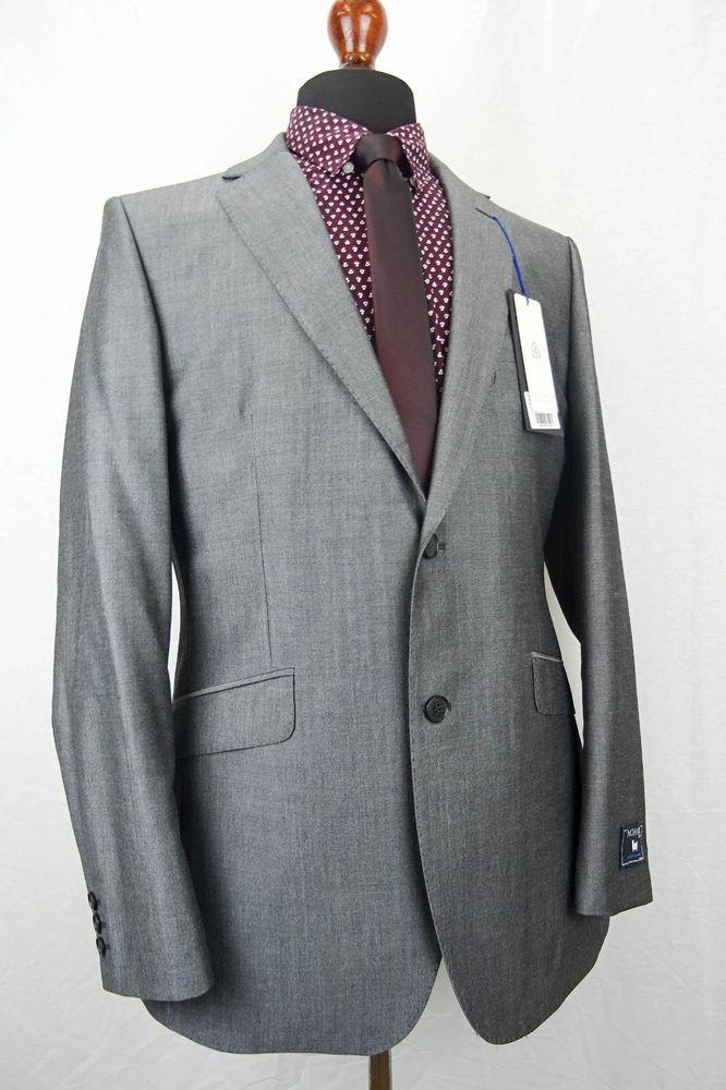 menu0027s sharkskin silver grey tonic mohair suit 40r w34 l32 ez402 xmurxjt