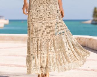 modern crochet skirt pattern (sizes s-2xl) crochet tutorial in english  (written jcrxqhl