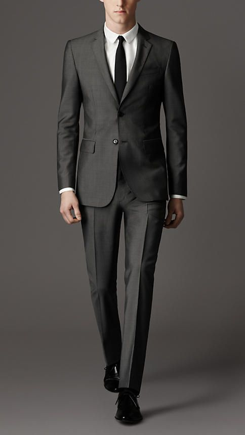 modern fit wool mohair suit | burberry qfoqcnx