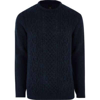 navy cable knit jumper ziytgwk