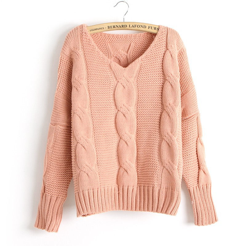 new arrival twist bat sleeve knitted sweater kuddvcc