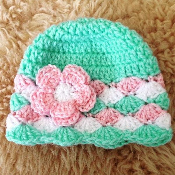 new crochet hats baby girl crochet hats with flowers free patterns pbvqwmk