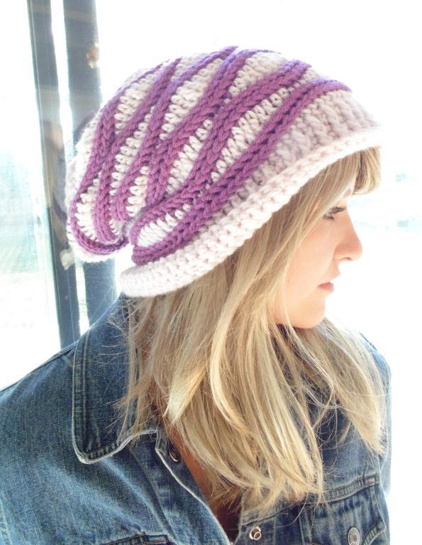 new crochet hats cabled wrap slouchy hat crochet pattern sscomgv