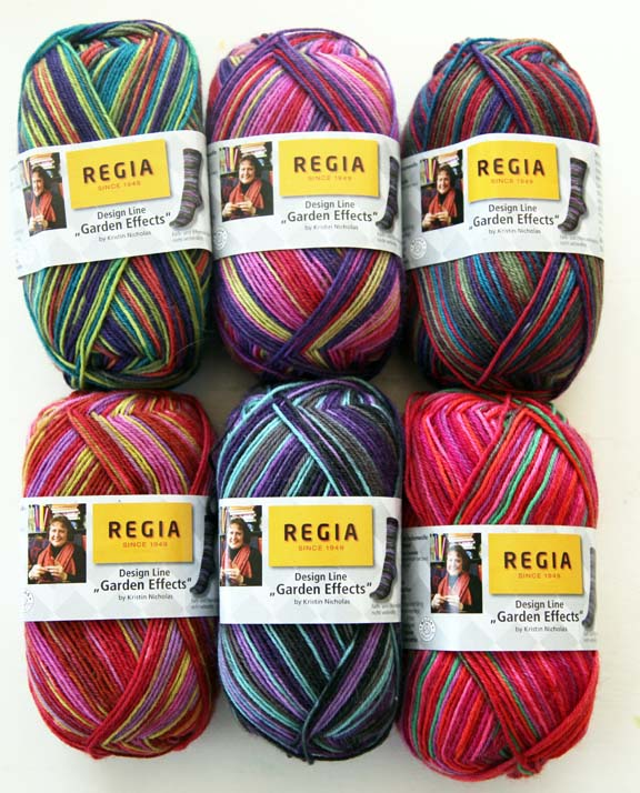 New Sock Yarn kristinu0027s garden effects sock yarn - new from regia! szalmxo