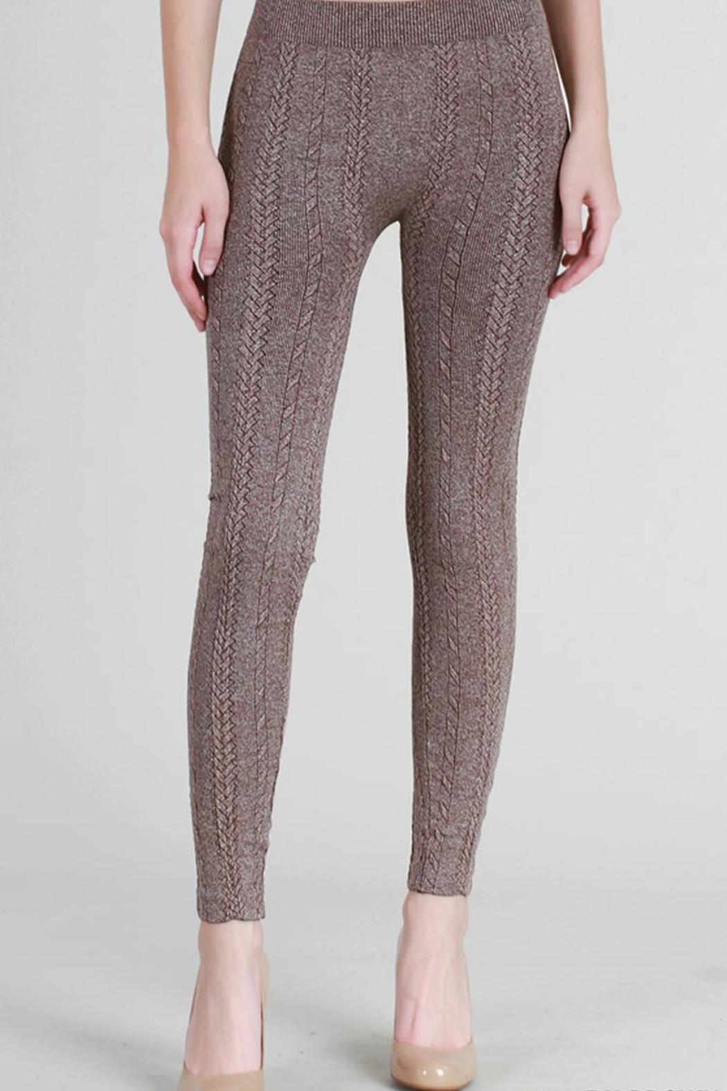 nikibiki cable knit leggings - front cropped image sulefuz