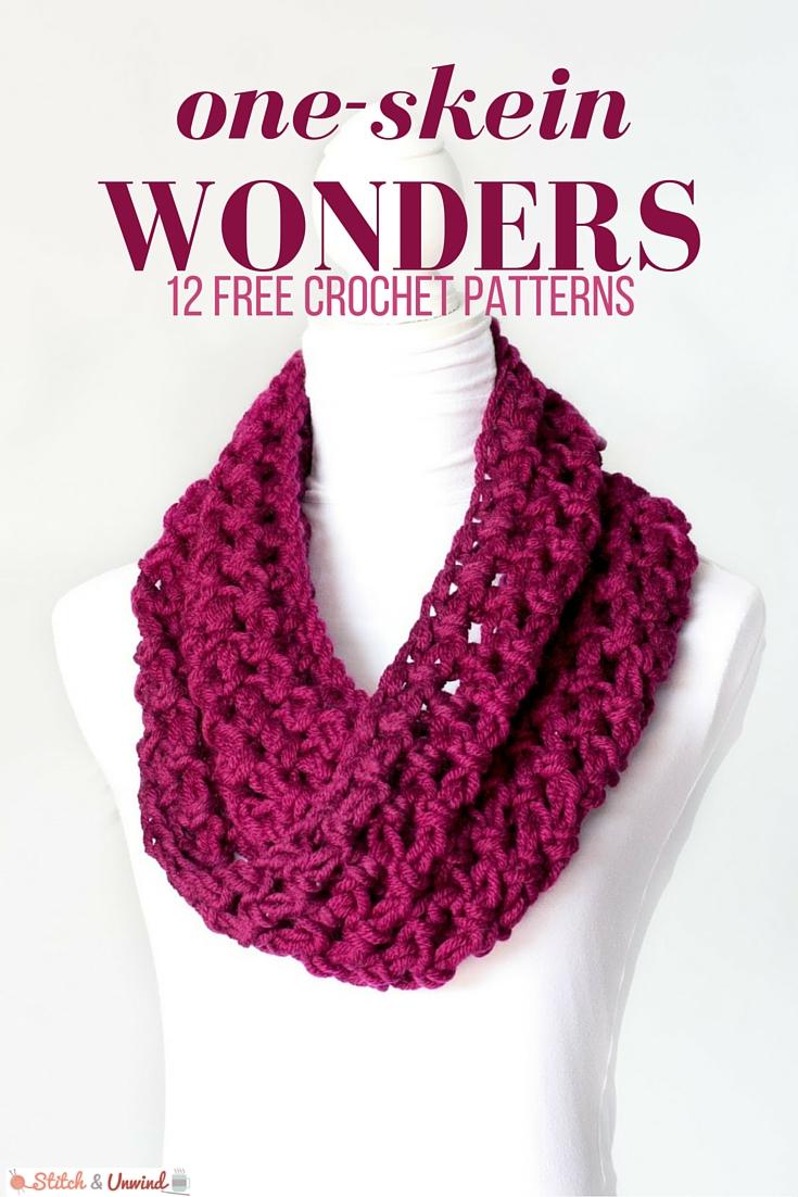 one-skein wonders: 12 free crochet patterns gqsefir