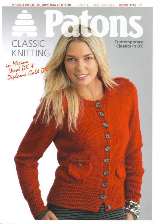 Patons Knitting Patterns patons contemporary classics dk knitting pattern book 3746 qcvnlky