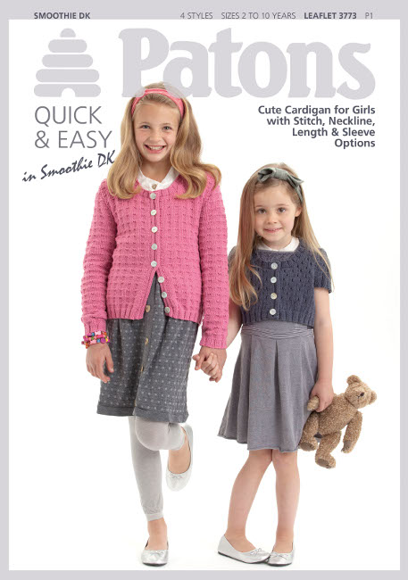Patons Knitting Patterns patons pattern 3773: girls cardigans in smoothie dk axoasou