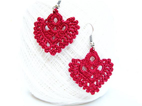 pdf patterns, easy instructions, diy crochet earrings, earrings