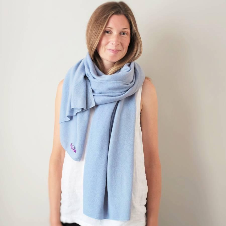 pierre baby blue cashmere wrap shawl ejqgwlo
