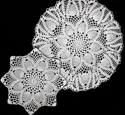 pineapples large and small doily patterns luxcuql