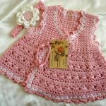 Crochet baby dress – Wearable crochet Knit fabric for Kids