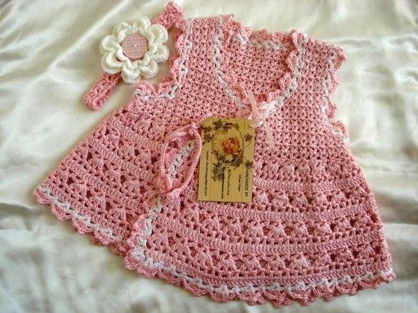 Crochet baby dress – Wearable crochet Knit fabric for Kids