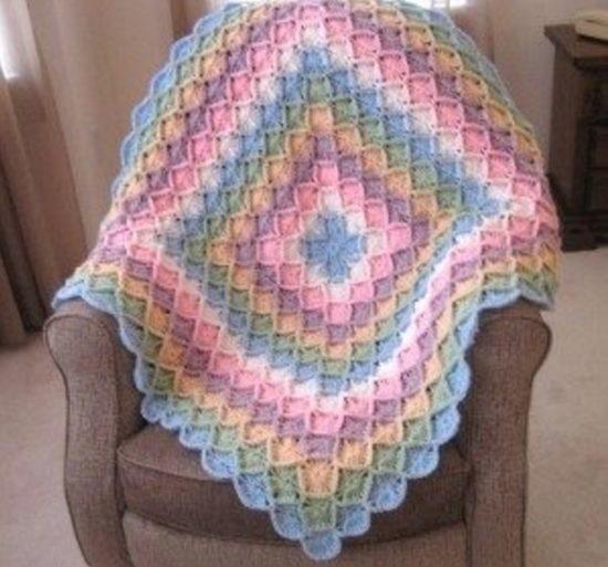 rainbow bavarian crochet blanket qfssemd